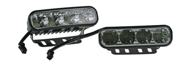 LED světla pro denní svícení, 120x36mm, ECE