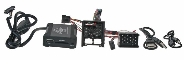 Adaptér pro ovládání USB zařízení OEM rádiem BMWold/AUX vstup