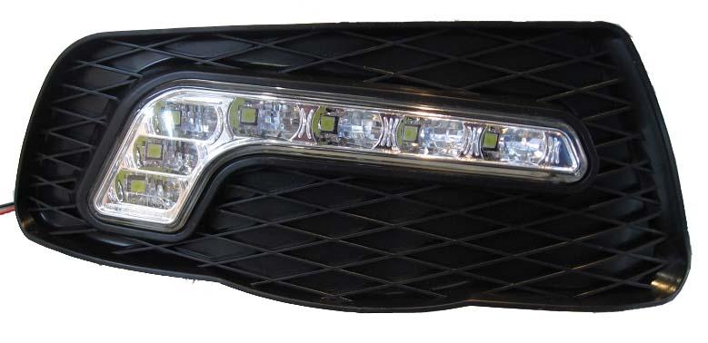 LED světla pro denní svícení Mercedes C W204 2007-10, ECE