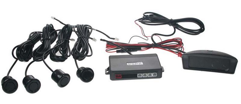 Parkovací systém bezdrátový s LCD, 4 senzory