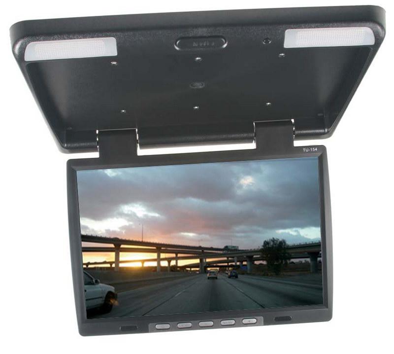 "Stropní LCD monitor 15,6"" černý neotočný"