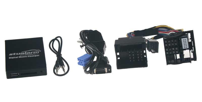 Adaptér pro ovládání USB zařízení OEM rádiem Renault s MOST/AUX vstup