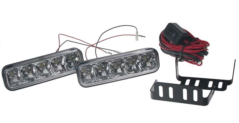 LED světla pro denní svícení, 146x44mm, ECE