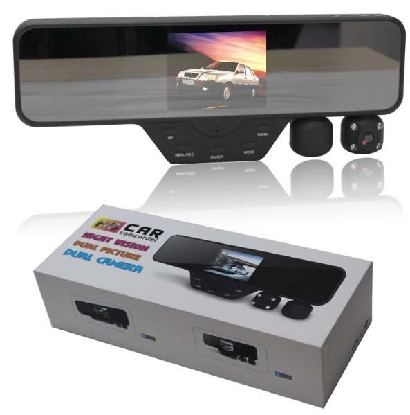 2 kanálová kamera v zrcátku pro záznam obrazu, IR přisvícení