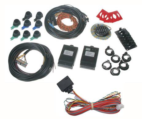 Parkovací senzor zadní (4 čidla) + přední (4 čidla) pro VW/Škoda/Seat