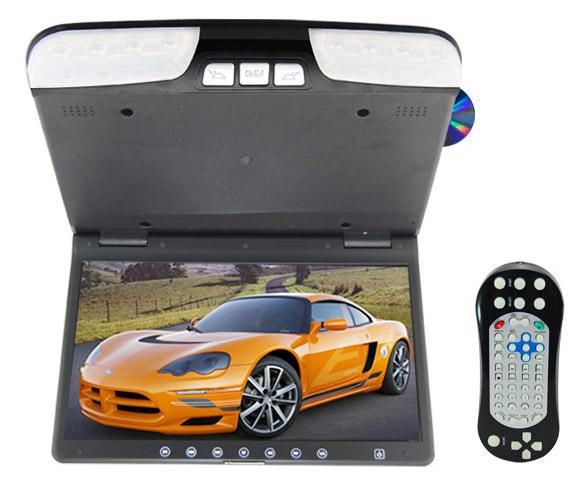 "Stropní monitor 15,6"" černý s DVD/SD/USB"