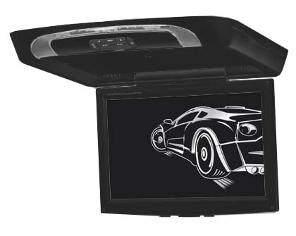 "Stropní monitor 17"" černý s DVD/SD/USB"