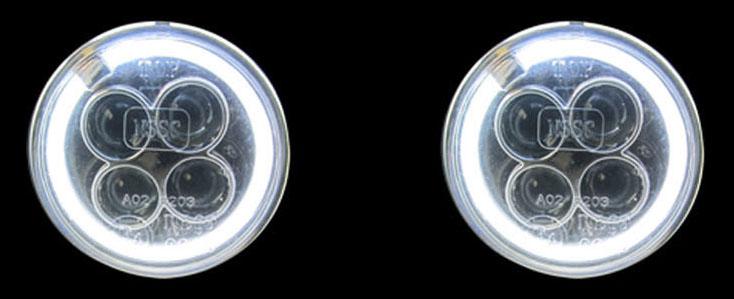 LED denní svícení s funkcí pozičních světel Angel eyes (andělské oči)