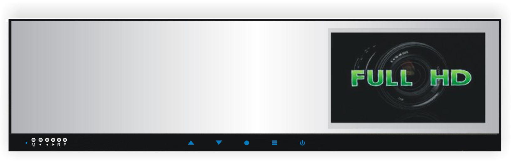 "LCD monitor 4,3"" na zrcátko s FULL HD DVR kamerou"
