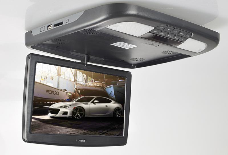 "Stropní monitor 11,6"" černý s DVD/SD/USB"