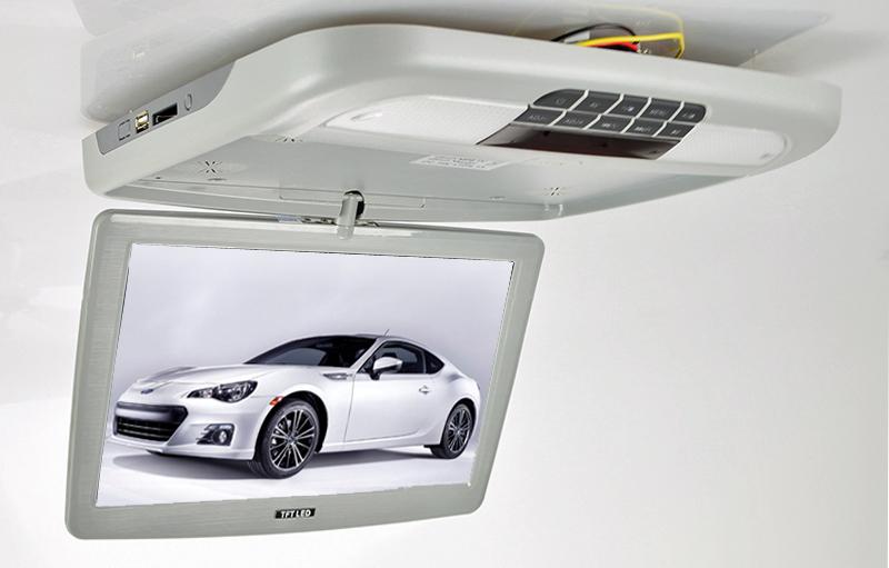 "Stropní monitor 11,6"" šedý s DVD/SD/USB"