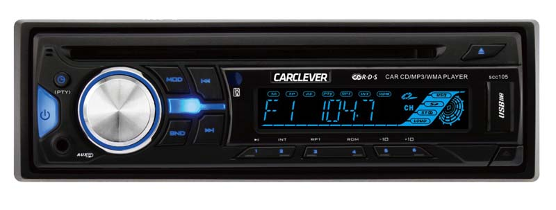 1DIN autorádio s CD/USB/SD/AUX,multicolor podsvícení, dálkové ovládání