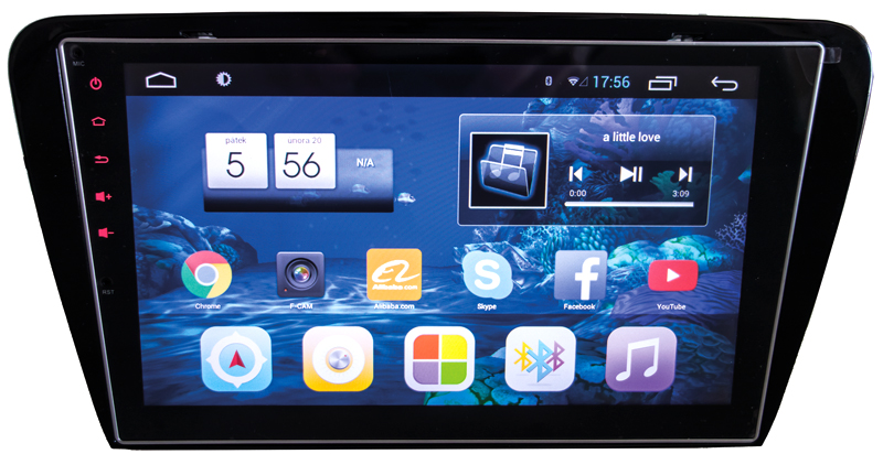 "2DIN Škoda Octavia III 2014- s 10,2"" LCD, Android 4.4.2, WI-FI, GPS"