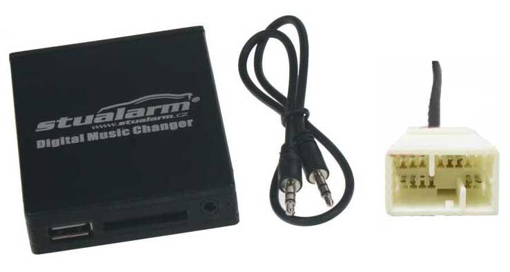 Adaptér pro ovládání USB zařízení OEM rádiem Honda Goldwing