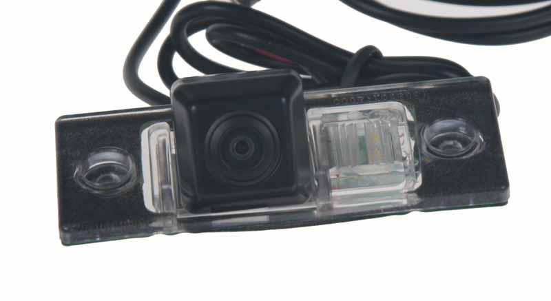 Kamera s trajektorií LED, PAL do vozu VW Touareg, Škoda Yeti, Fabia II, Superb I, Passat 01-05