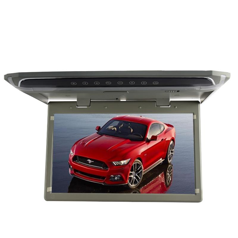 """Stropní LCD monitor 10,1"""" šedý HDMI/microSD, ultra tenký"""