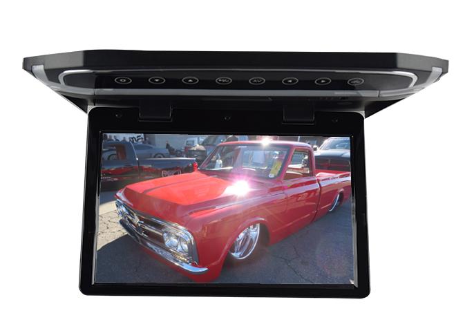 """Stropní LCD monitor 15,6"""" USB/SD/HDMI černý neotočný"""