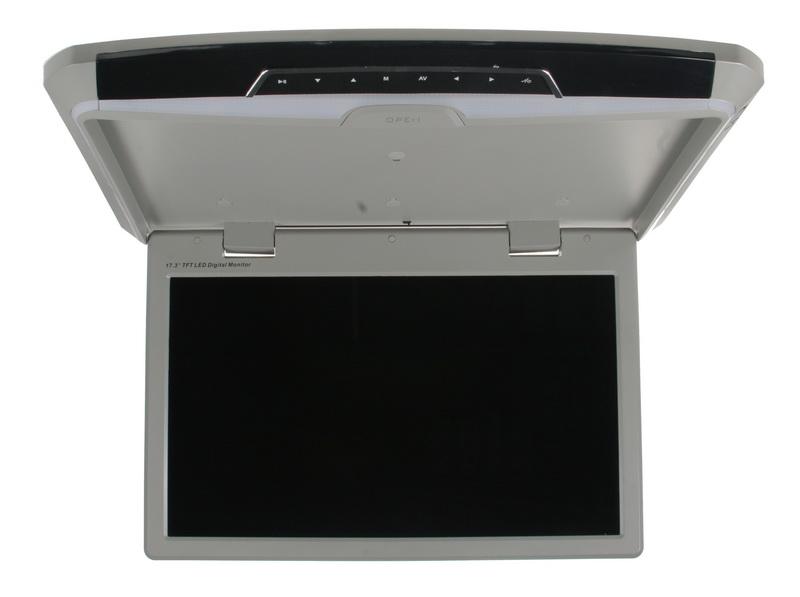 """Stropní LCD monitor 17,3"""" USB/SD/HDMI šedý neotočný"""